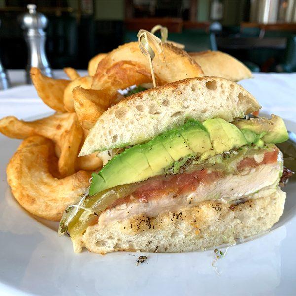 Pacific Dining Car Baja Chicken Sandwich