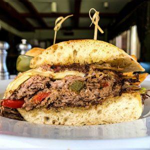 Pacific Dining Car Prime Ribeye Cheesesteak Sandwich